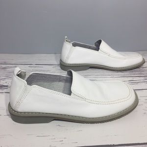 Aldo men's white leather loafers shoes